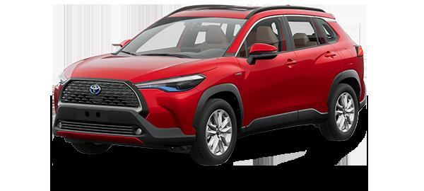 Toyota Corolla Cross Híbrido Auto Recargable 2022 Red Mica Metallic