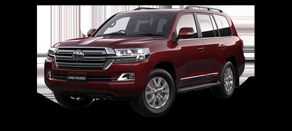 Toyota Land Cruiser Station Wagon 2021 DARK RED METALLIC