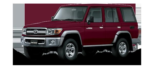Toyota Land Cruiser Hard Top 4 Puertas 2021 DARK RED METALLIC