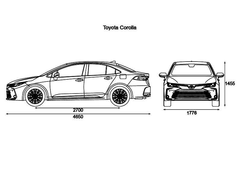 Ficha técnica | Corolla híbrido auto recargable
