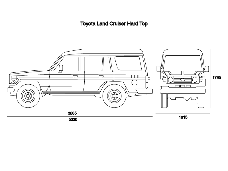Ficha técnica   Land Cruiser Hard Top 4 Puertas