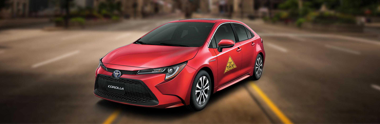 Banner Toyota Corrolla Taxi Hibrido Autorecargable 2021