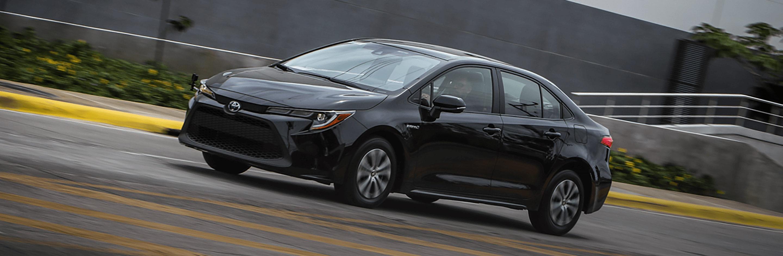 Banner Toyota Corolla híbrido auto recargable 2021